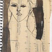 SYLVIA McEWAN_MODERN MUSE Sketch book V #41_21x15cm_ink on paper