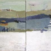 SYLVIA McEWAN_WATER HOLE_(diptych)_120x180cm_oil on canvas