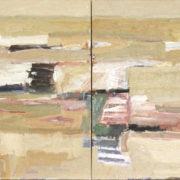 SYLVIA McEWAN_WHEAT FIELDS Series III_(diptych)_ 120x300cm_oil on canvas