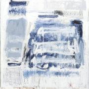 SYLVIA McEWAN_BLUE ABSTRACT no 4_120x120cm_oil on canvas