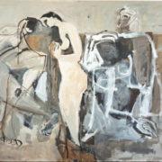 SYLVIA McEWAN_FIVE BATHERS-A HOMAGE'_ 150x180cm _oil on canvas _SOLD_jpg