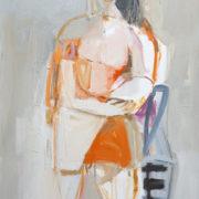 SYLVIA McEWAN_SEATED FIGURE X1_91X61cm_oil on canvas_N/A