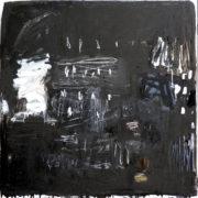 SYLVIA McEWAN_ MAKING A MARK Black_102x102_oil on linen