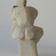 SYLVIA McEWAN_SEATED FIGURE. fired clay. 1983