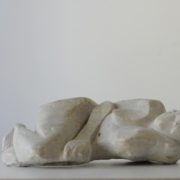 SYLVIA McEWAN_WOMAN RESTING. carved soapstone. 1983
