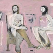 SYLVIA McEWAN_THE CONVERSATION Series 11_122x152cm_oil on canvas