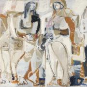 SYLVIA McEWAN_THE CONVERSATION Series 1_130x195cm_oil on canvas