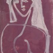 SYLVIA McEWAN_WOMAN #1_59x42cm_oil on paper