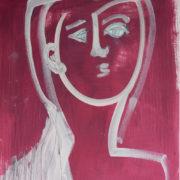 SYLVIA McEWAN_WOMAN #2_59x42cm_oil on paper
