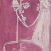 SYLVIA McEWAN_WOMAN #3_59x42cm_oil on paper-SOLD