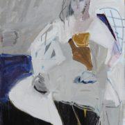 SYLVIA McEWAN_SEATED FIGURE XIV_91x61cm_oil on linen