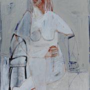 SYLVIA McEWAN_SEATED FIGURE XXI_91x61cm_oil on linen_SOLD