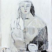SYLVIA McEWAN_SEATED FIGURE XIX_ 70x50cm_oil on canvas
