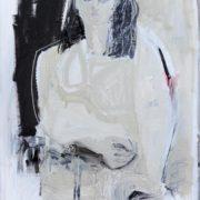 SYLVIA McEWAN_SEATED FIGURE XVII_ 70x50cm_oil on canvas