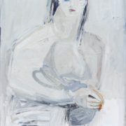 SYLVIA McEWAN_SEATED FIGURE XVI_ 70x50cm_oil on canvas