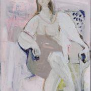 SYLVIA McEWAN_SEATED FIGURE XV_91x61cm_oil on linen