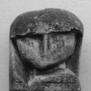 SYLVIA McEWAN_ HEAD. carved limestone. 1982