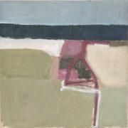SYLVIA McEWAN_BEACH VIEW Series _102x102cm_on linen