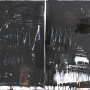 MAKING A MARK_Black and White Series 111 (diptych)_122v244cm_oil on linen