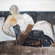 SYLVIA McEWAN_SEATED FIGURE_120x150cm_oil on canvas_SOLD