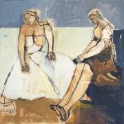 SYLVIA McEWAN_MODERN MUSE_120x120cm_oil on canvas_SOLD