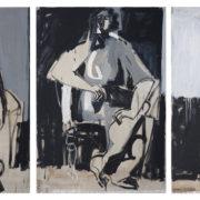 SYLVIA McEWAN_THREE GRACES Series 1V_triptych_122x276cm_oil on linen