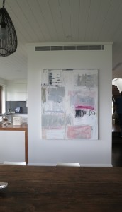 WHITE FIELD WITH GREY AND PINK_150X120cm_SOLD through the team at ARTDUO