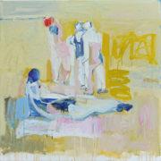 SYLVIA McEWAN_LIFES A BEACH #1_102cmx102cm_oil on linen