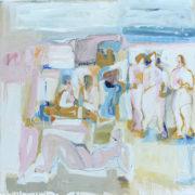 SYLVIA McEWAN_LIFES A BEACH #2_102cmx102cm_oil on linen