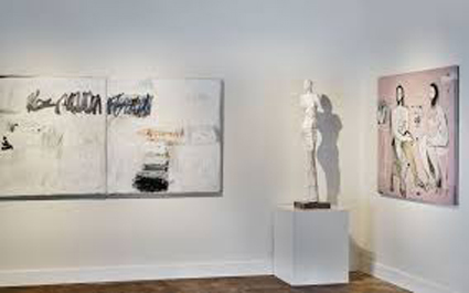 MAKING A MARK no3 SOLD and THE CONVERSATION series 11_hanging at Pryor Fine Art Gallery, Atlanta. USA